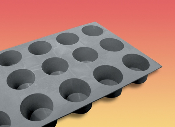 moule mini muffins en silicone elastomoule de buyer moule. Black Bedroom Furniture Sets. Home Design Ideas