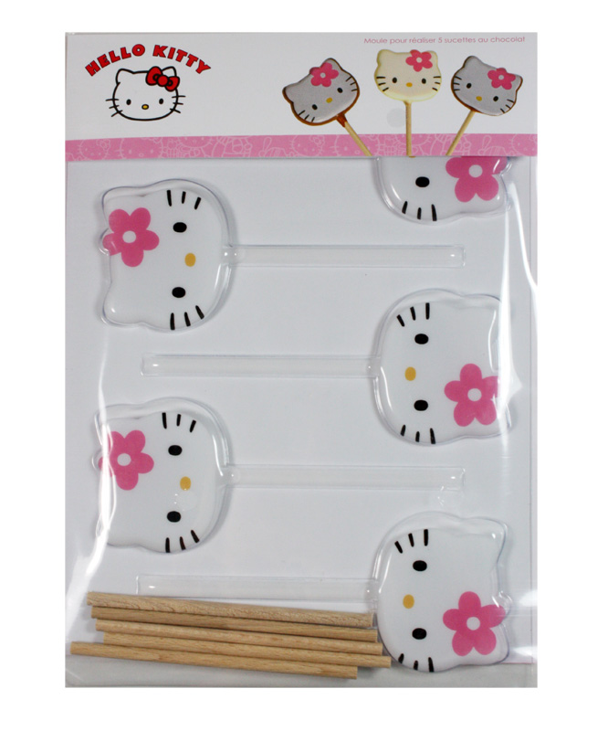 moule 5 sucettes en chocolat hello kitty scrapcooking. Black Bedroom Furniture Sets. Home Design Ideas