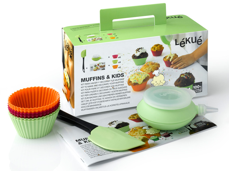 Kit muffins kids l ku kit muffins kids moule cupcakes en silicone - Ustensile de cuisine pour enfant ...