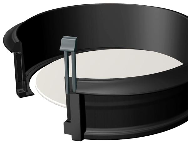 moule g teau d montable en silicone et c ramique l ku. Black Bedroom Furniture Sets. Home Design Ideas