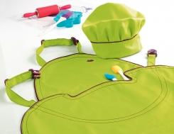 Tablier de cuisine enfant vert mastrad tablier de for Tablier de cuisine pour enfant